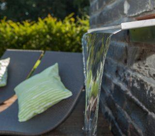 Wasserschütte im Garten