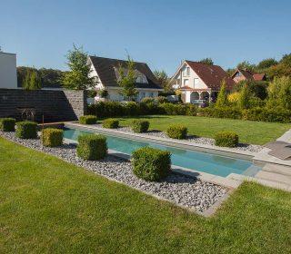 Symmetrische Gartengestaltung